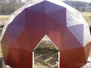 Röd Biodome med solskydd